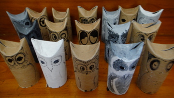 The owls on parade